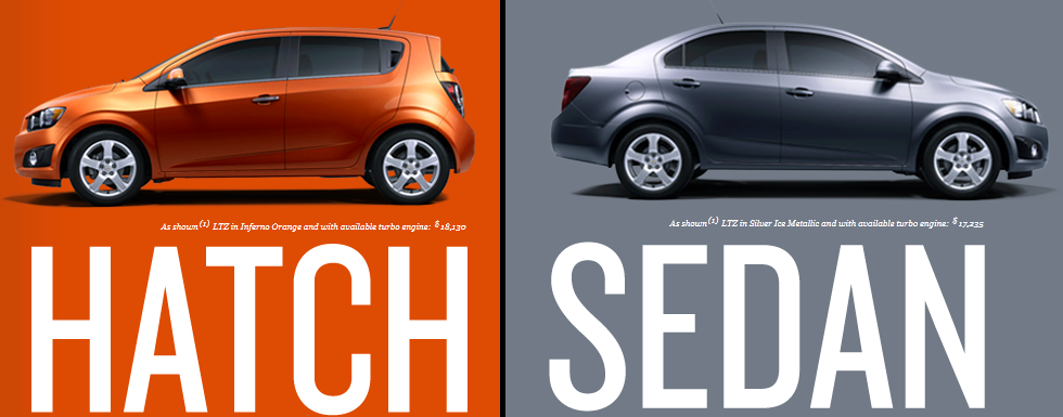Sonic Hatch and Sedan Compare