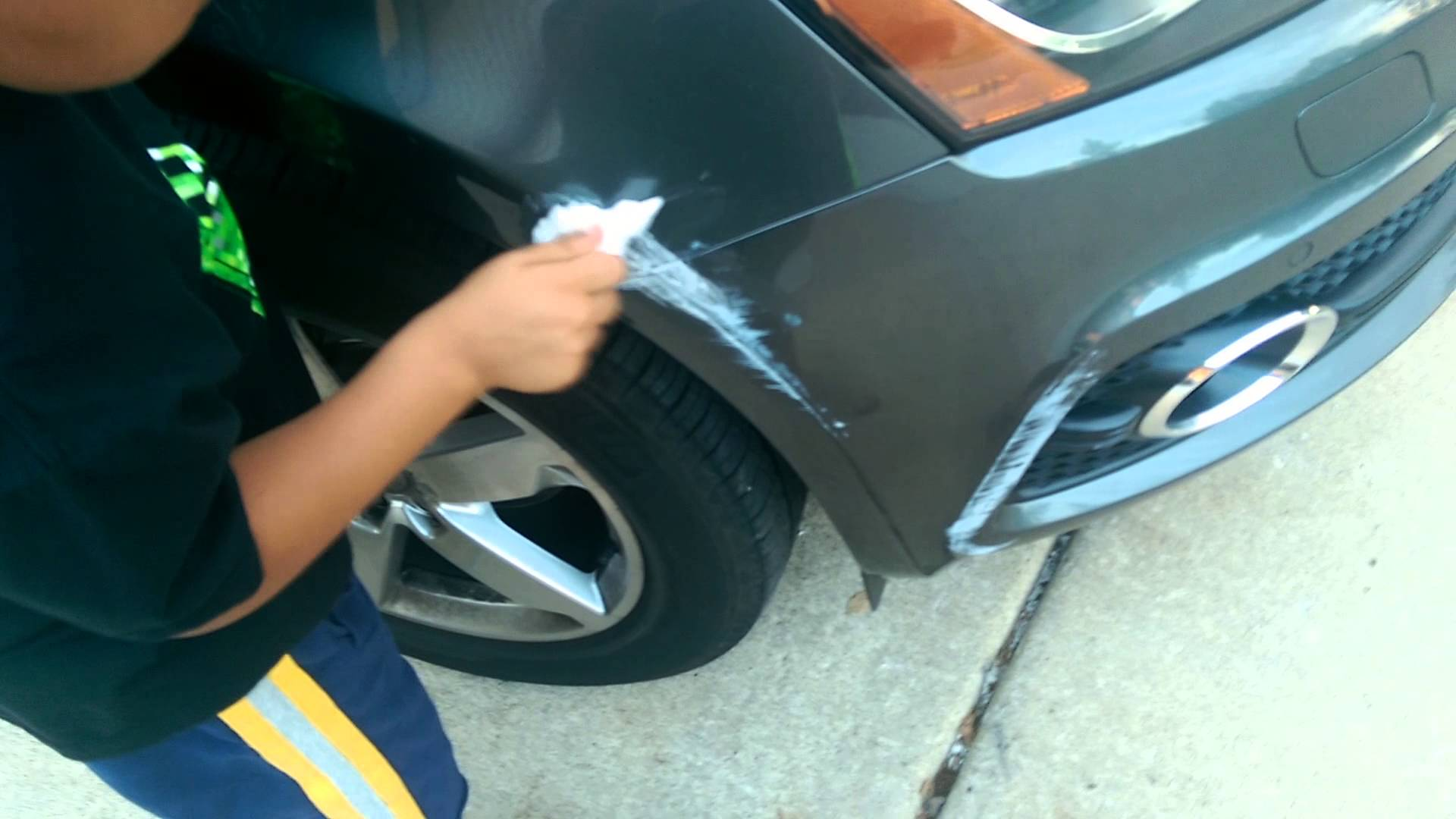 Removing Paint Scrapes From Car Bumper
