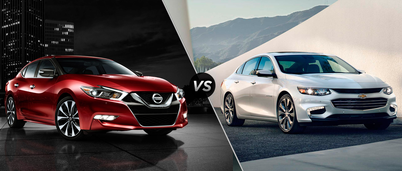 The 2016 Chevy Impala vs. the 2016 Nissan Maxima ...