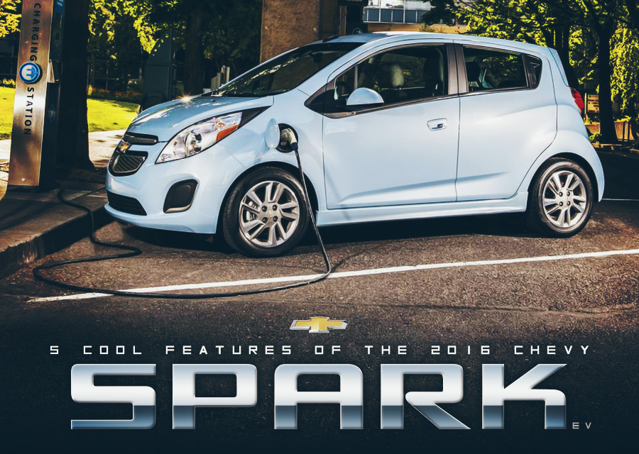 5 Cool Features of the 2016 Chevy Spark EV  McCluskey Chevrolet