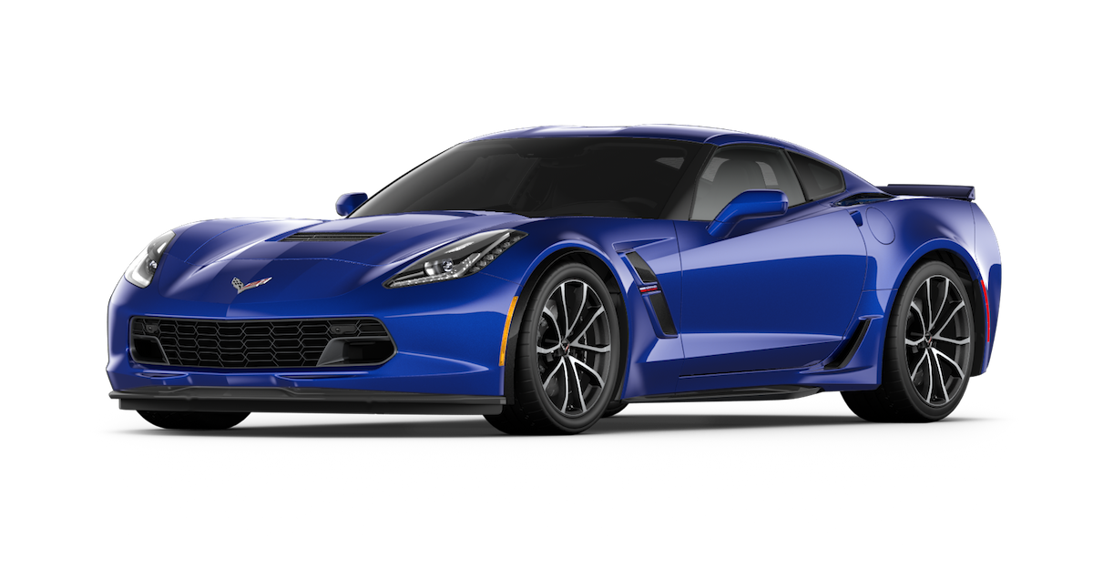 2017 Blue Chevy Corvette