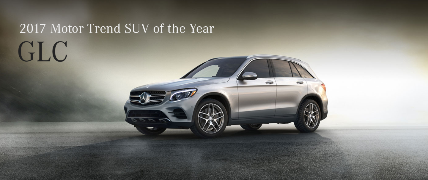 GLC SUV of the year banner