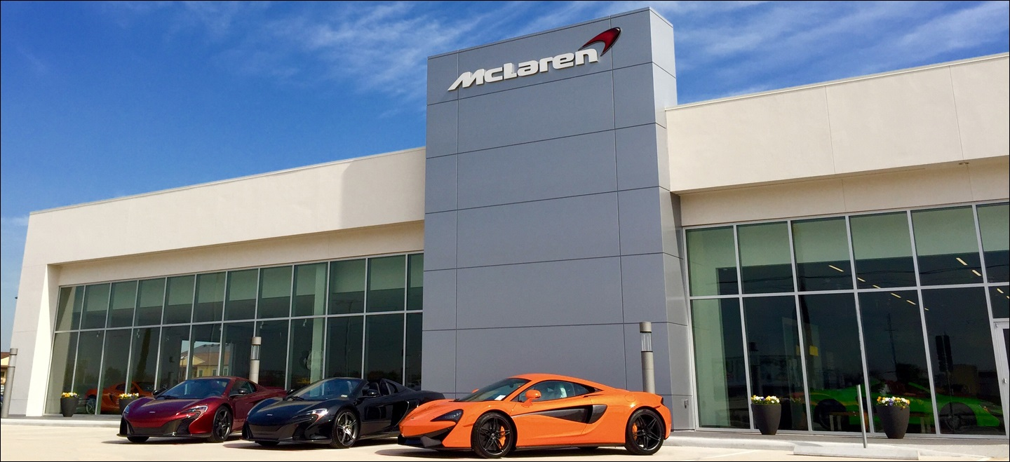 Mclaren houston now open mercedes benz of sugar land for Mercedes benz dealers houston