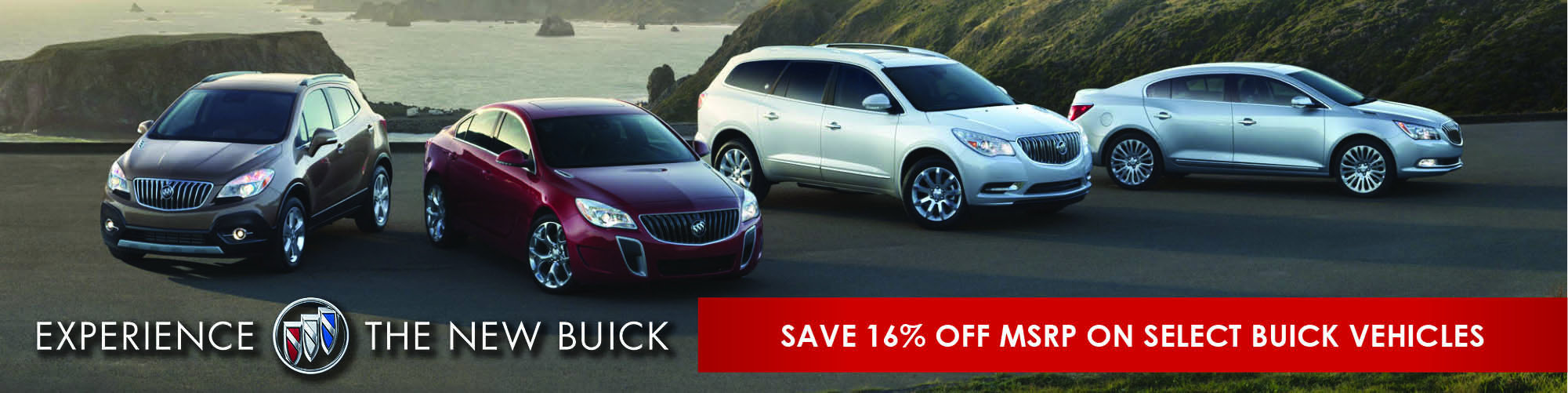 Save 16% off MSRP on select Buick vehicles.