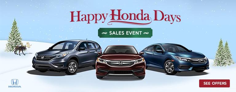 Happy Honda Days at New England Honda Dealers