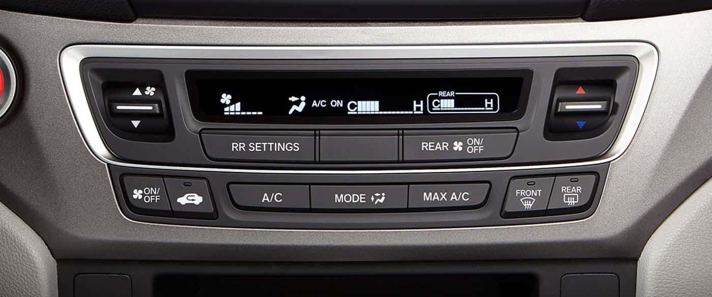 Honda Pilot Tri-Zone Climate Control