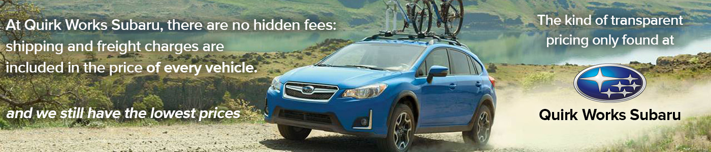 Quirk Works Subaru Specials No Hidden Fees