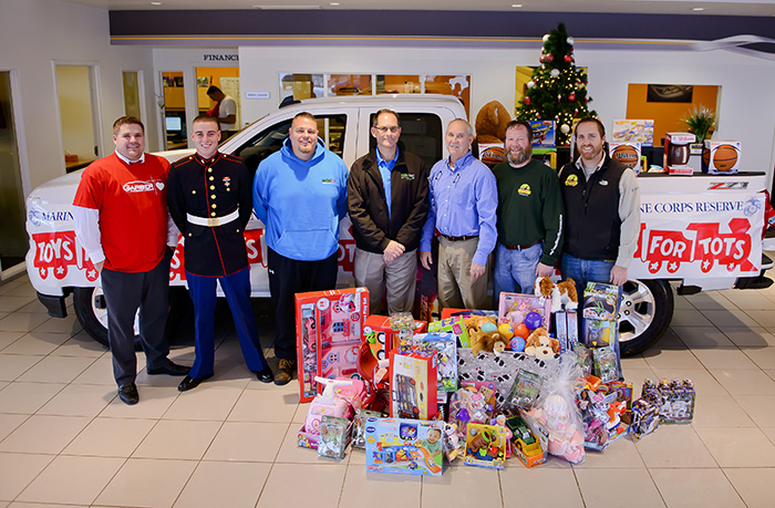 Donors Garber Toys for Tots