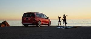 2017 Chrysler Pacifica beach