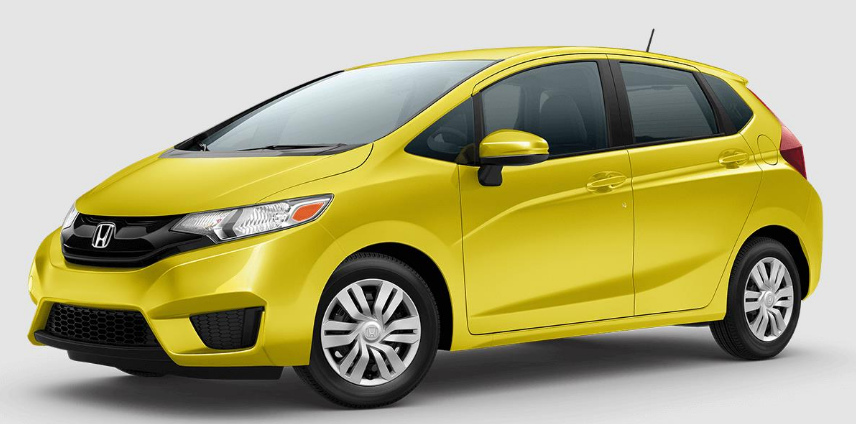 Yellow 2017 Honda Fit